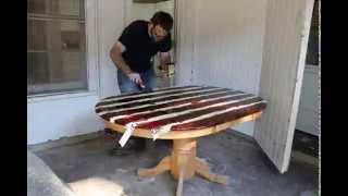 Time Lapse Table Refinishing