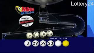 2018 01 16 Mega Millions Numbers and draw results
