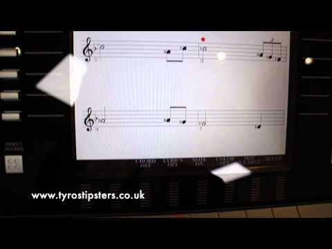 Have you tried this with the 'Song' section on the Yamaha Tyros?