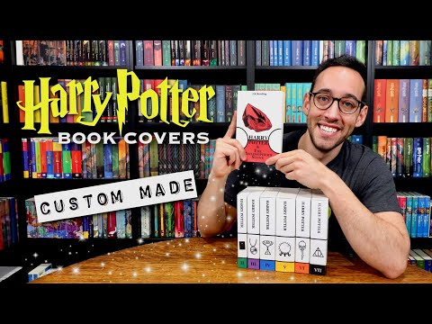 CUSTOM HARRY POTTER BOOK COVERS UNBOXING | BY ONE OF YOU!