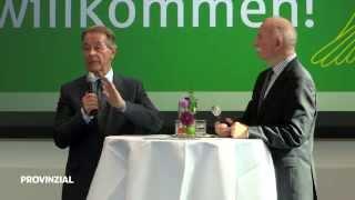 Pflegesymposium bei der Westfälischen Provinzial - Werner Hansch im Gespräch mit Franz Müntefering