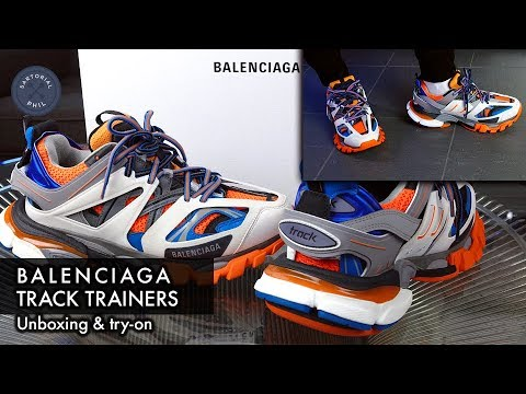 Balenciaga Track Sneakers in Red Yellow Red for Men
