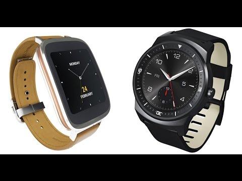 ASUS ZenWatch vs LG G Watch R Smartwatch Comparison