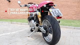 Thruxton R Walkaround Cone Exhaust, Black Wheel Kit, and