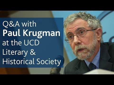 Prof Paul Krugman's Q&A with the UCD Literary & Historical Society