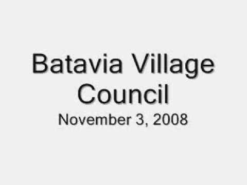 Batavia Village Council Nov. 3, 2008