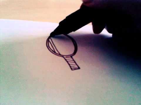 Comment je dessine une raquette de tennis youtube - Dessin raquette ...