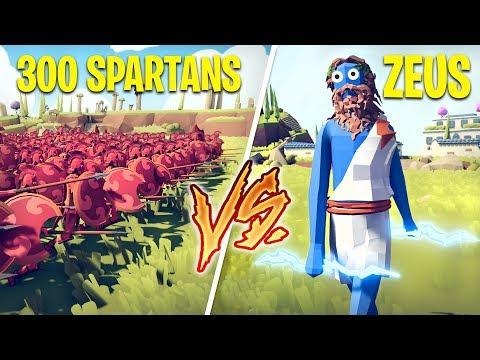 300 SPARTANS vs ZEUS!! (Totally Accurate Battle Simulator)