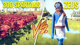 300 SPARTANS vs ZEUS!! (Totally Accurate Battle Simulator)