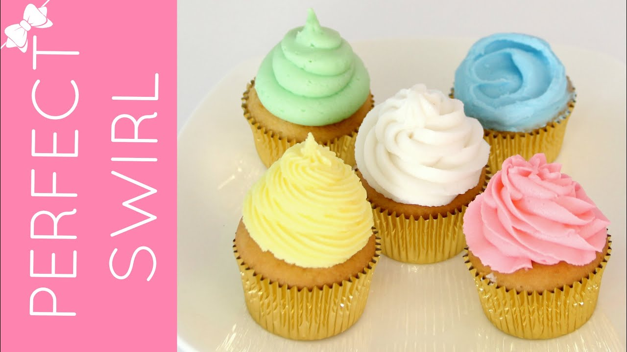 How To Frost A Cupcake Part 1 Perfect Bakery Swirl Lindsay Ann