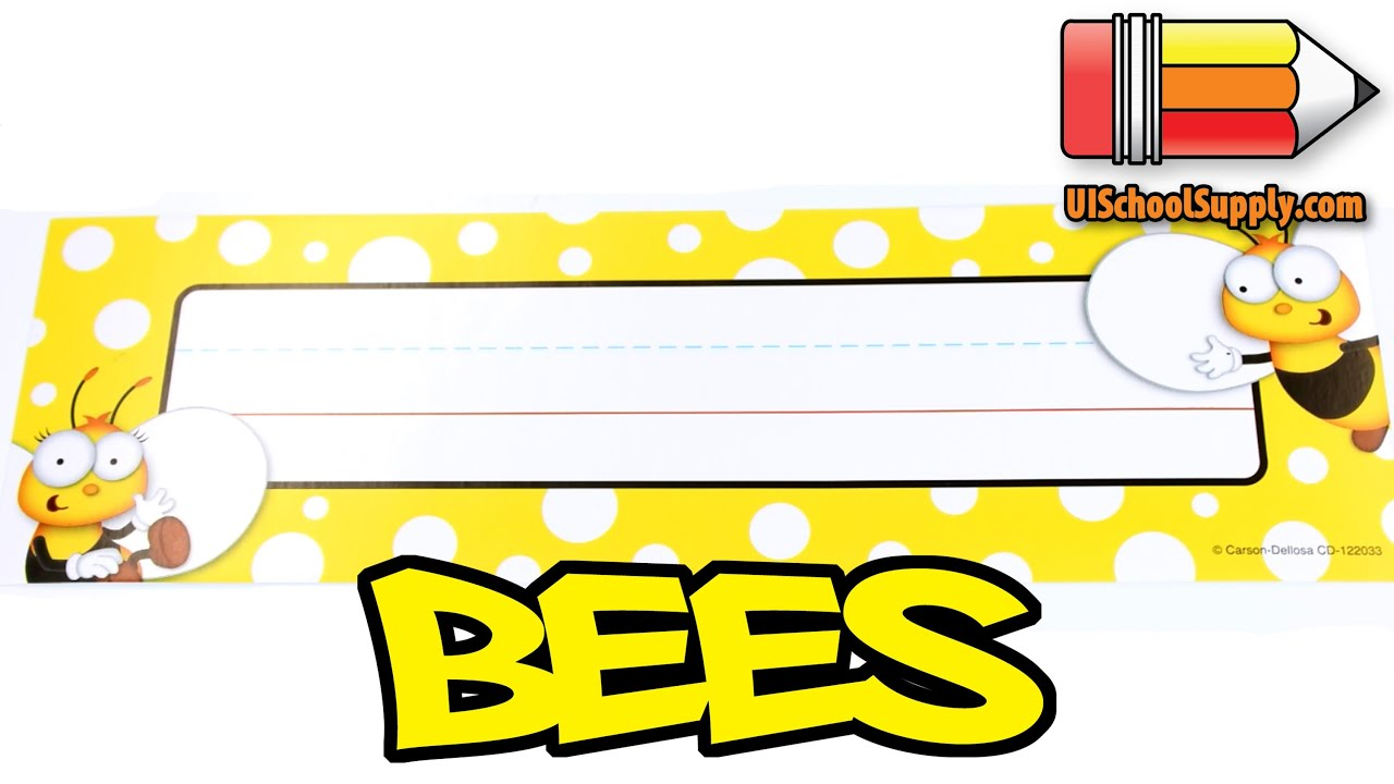Buzz-Worthy Bees Nameplates Buzz-Worthy Bees Nameplates by Carson-Dellosa