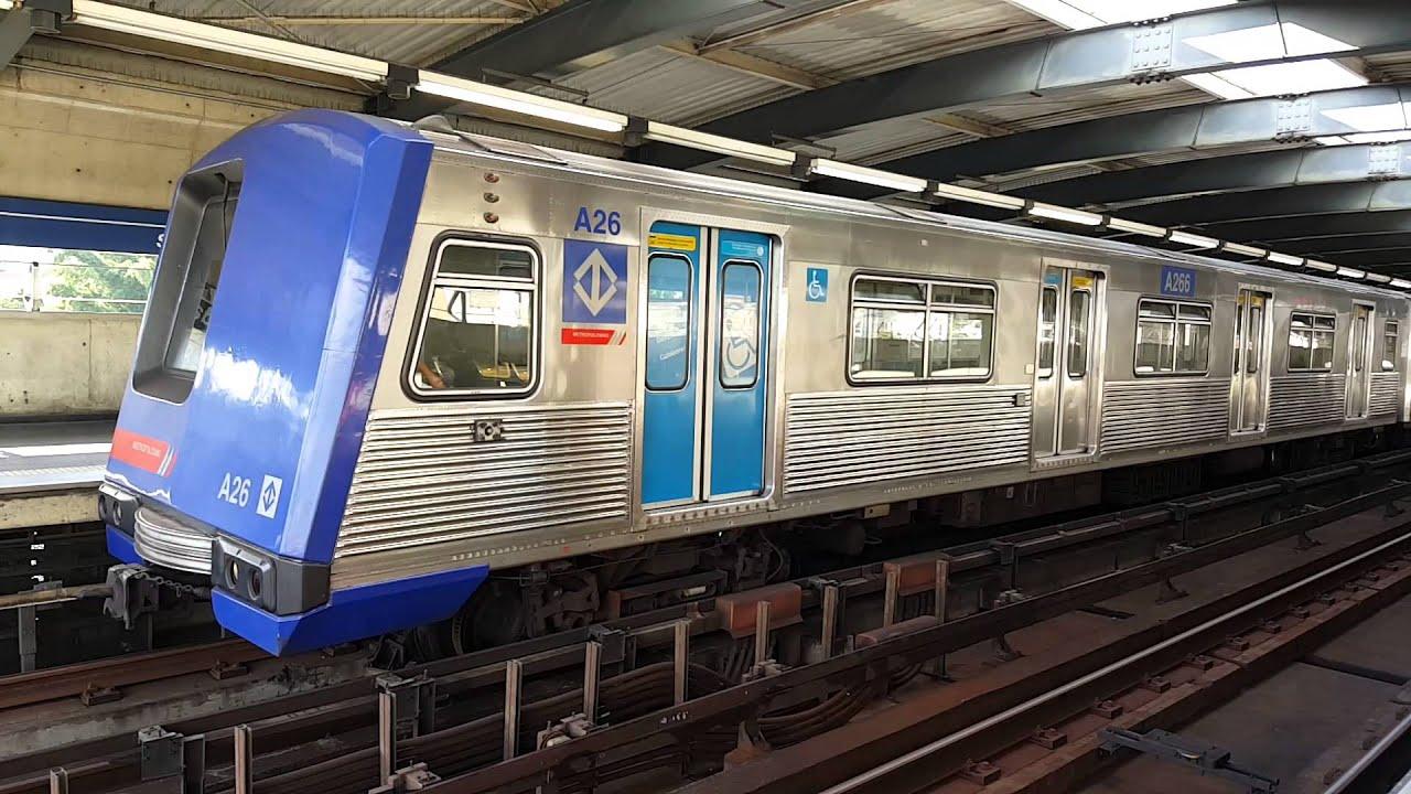 1f31fa0c440ca CMSP -Metrô SP - Frota A, A26 e A29 na estação Parada Inglesa - YouTube