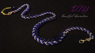 TUTORIAL. Beadcrochet Bracelet/ МАСТЕР - КЛАСС.Красивый жгут! из бисера
