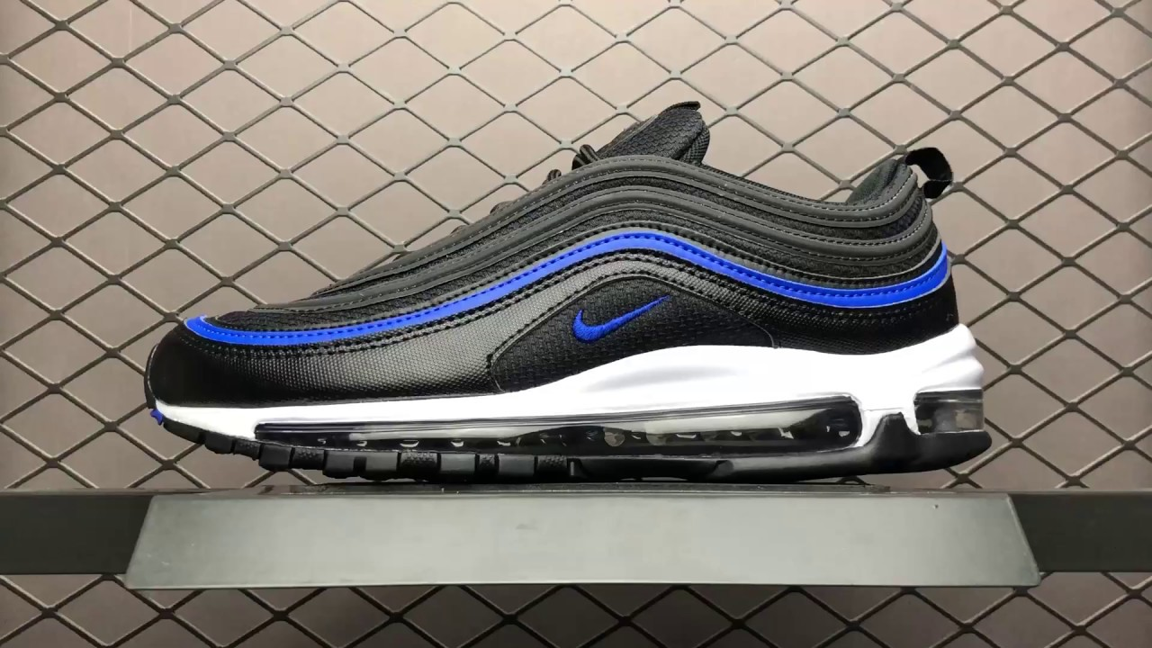 44 Authentic Nike Air Max 97 Og Ar5531 001 Black Blue 39 45 Mens