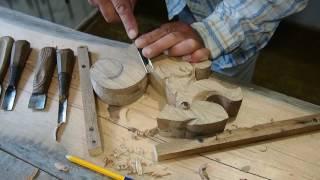Вырезаем декоративный элемент - скульптура Белочка