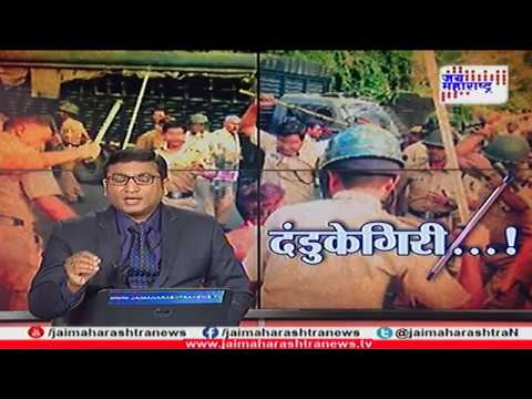 Exclusive: Mumbai police fight with drunk man