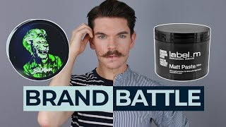 BluMaan Monarch Matte Paste vs. Label M Matt Paste | Brand Battle