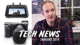 SONY a6400, SAMSUNG 8K 98inch TV, Nvidia RTX 2060, Gladius Mini Drone, CES 2019 +MORE TECH NEWS