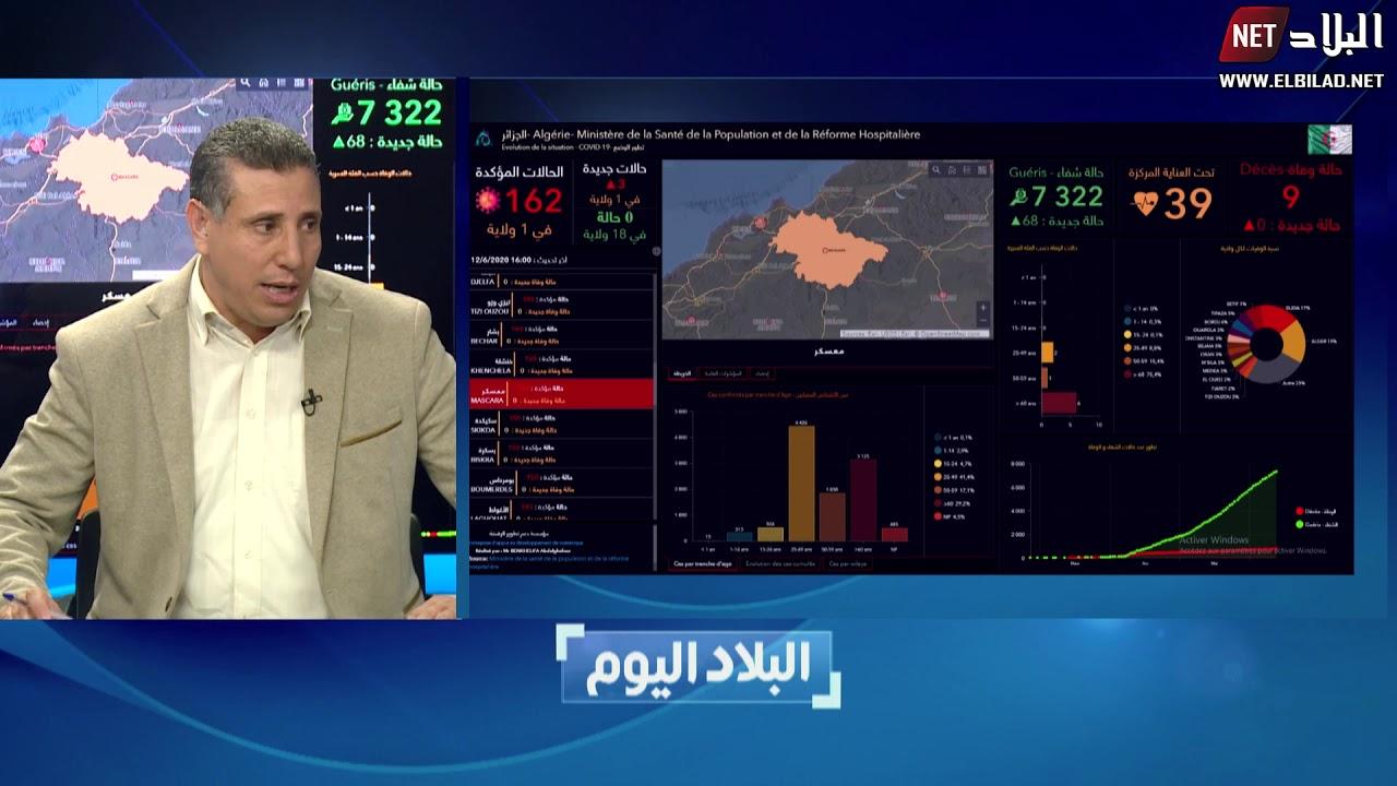البلاد اليوم.. تطورات وباء كورونا في الجزائر
