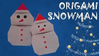 Origami Snowman - Origami Easy