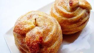 Запечённые яблоки в тесте  Пошаговый рецепт с фото
