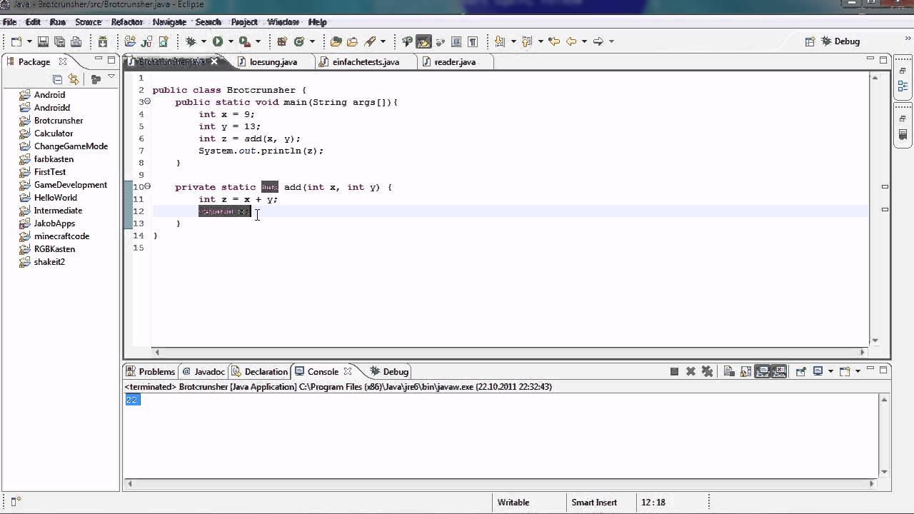 java tutorial 12   r ckgabewert return amp strings   youtube