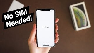 Activate iPhone Xs Without a SIM Card!