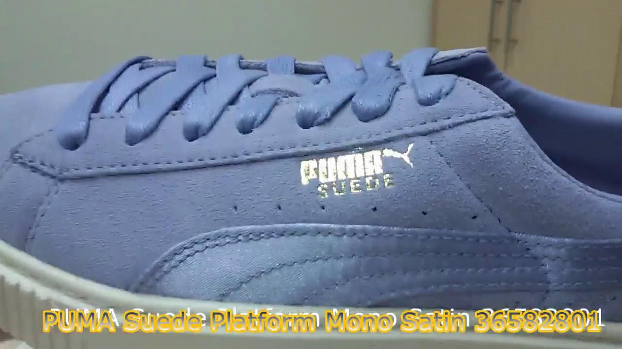 d36520818261 Unboxing Review sneakers PUMA Suede Platform Mono Satin 36582801 ...