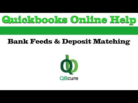 QuickBooks Online Help: Bank Feeds & Deposit Matching