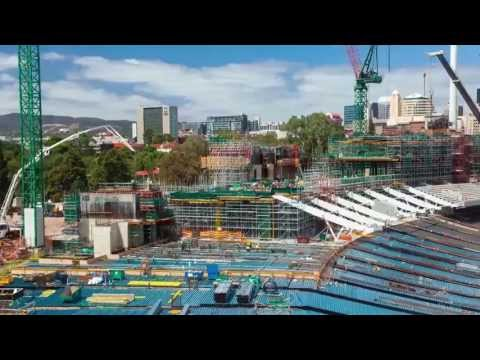 Adelaide Oval construction time lapse vision update - August 2013