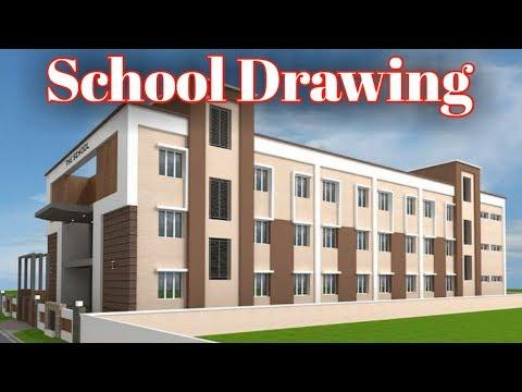 Schhol Drawing ! School Plan ! house plans ! home plans ! simple house design
