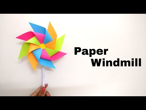 How To Make A Paper Windmill For Kids | DIY | Paper Pinwheel Tutorial