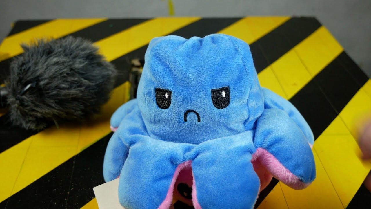 Shredding Machine Crushing: Flip Octopus Fidget Toy