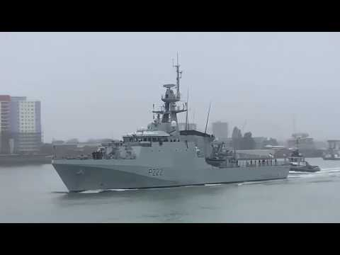 HMS Forth Sails From Portsmouth To Become New Falkland Islands Patrol Vessel