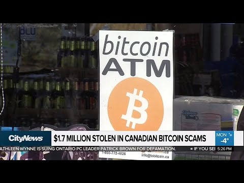 Business Report: $1.7 million stolen in Bitcoin scams in Canada this year