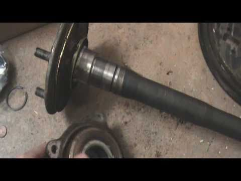 Rebuilding Axle Shafts On Toyota 7 5 Inch Rear End