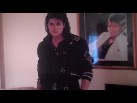 ME MAKING A FOOL OUT OF MY SELF OVER MY LIFE SIZE MJ CUT OUT :)