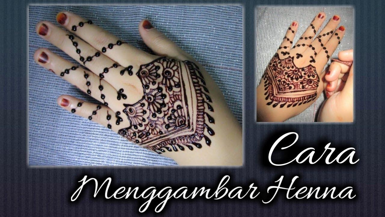 10 Cara menggambar henna | simple henna design | PIPIT RIDWAN ...