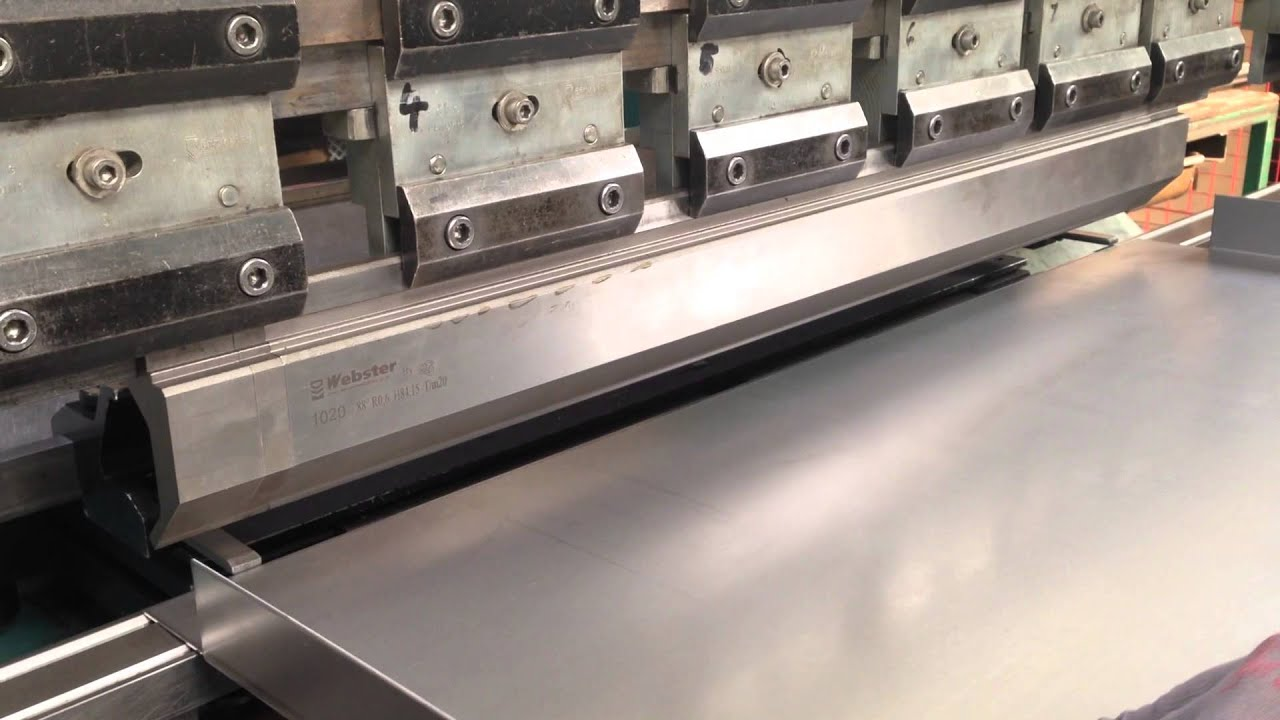 Folding Steel With Cnc Press Brake Youtube