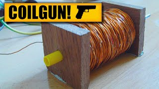 Coil gun : DIY Experiments #1 - Gauss rifle / homemade coil gun / DIY weapon / Electric gun