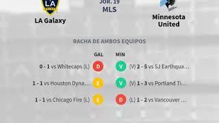 Previa LA Galaxy vs Minnesota United - Jornada 19 - MLS 2020 - Pronósticos y horarios