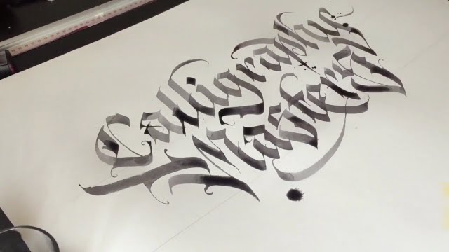 How To Write Calligraphy Masters With Wlk Youtube