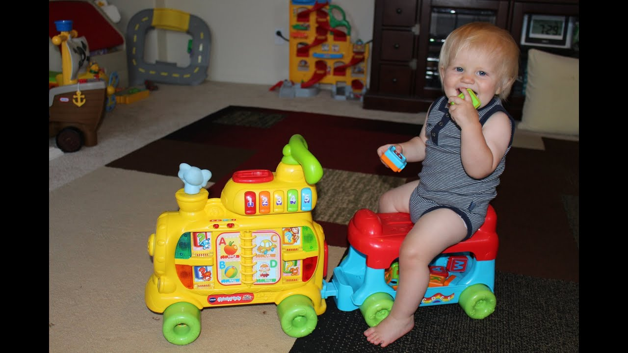 VTech Sit to Stand Alphabet Train Playtime Review