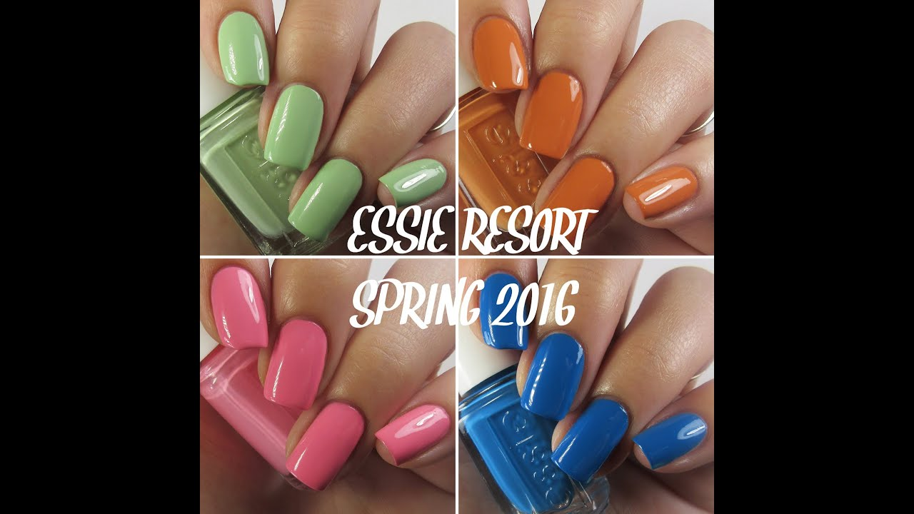 Essie Spring Resort 2016 Collection | Live Swatches - YouTube