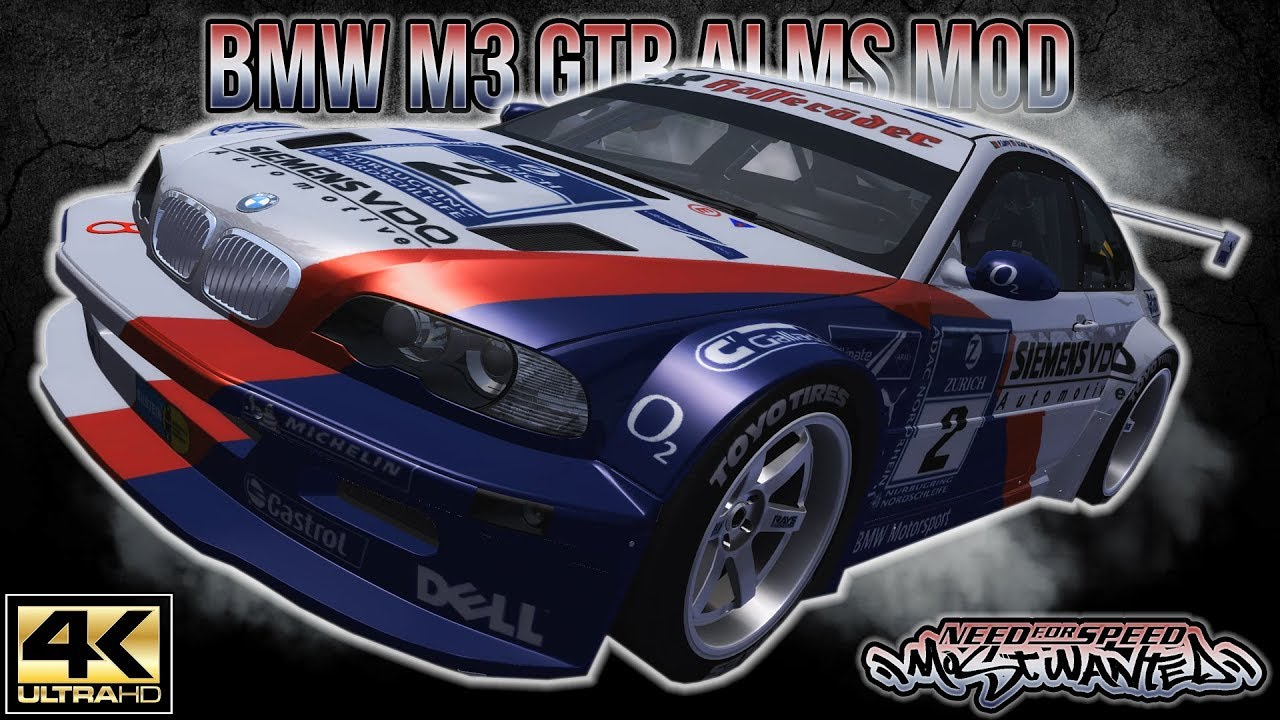 Bmw M3 Gtr Alms Mod Nfs Most Wanted 2005 Pc 4k Youtube