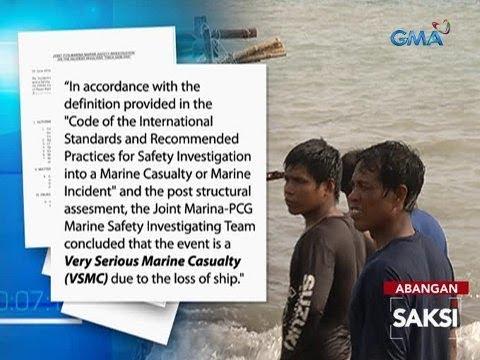 Saksi: MARINA-PCG Report: 'Very Serious Marine Casualty' ang pagbangga sa Gem-Ver 1