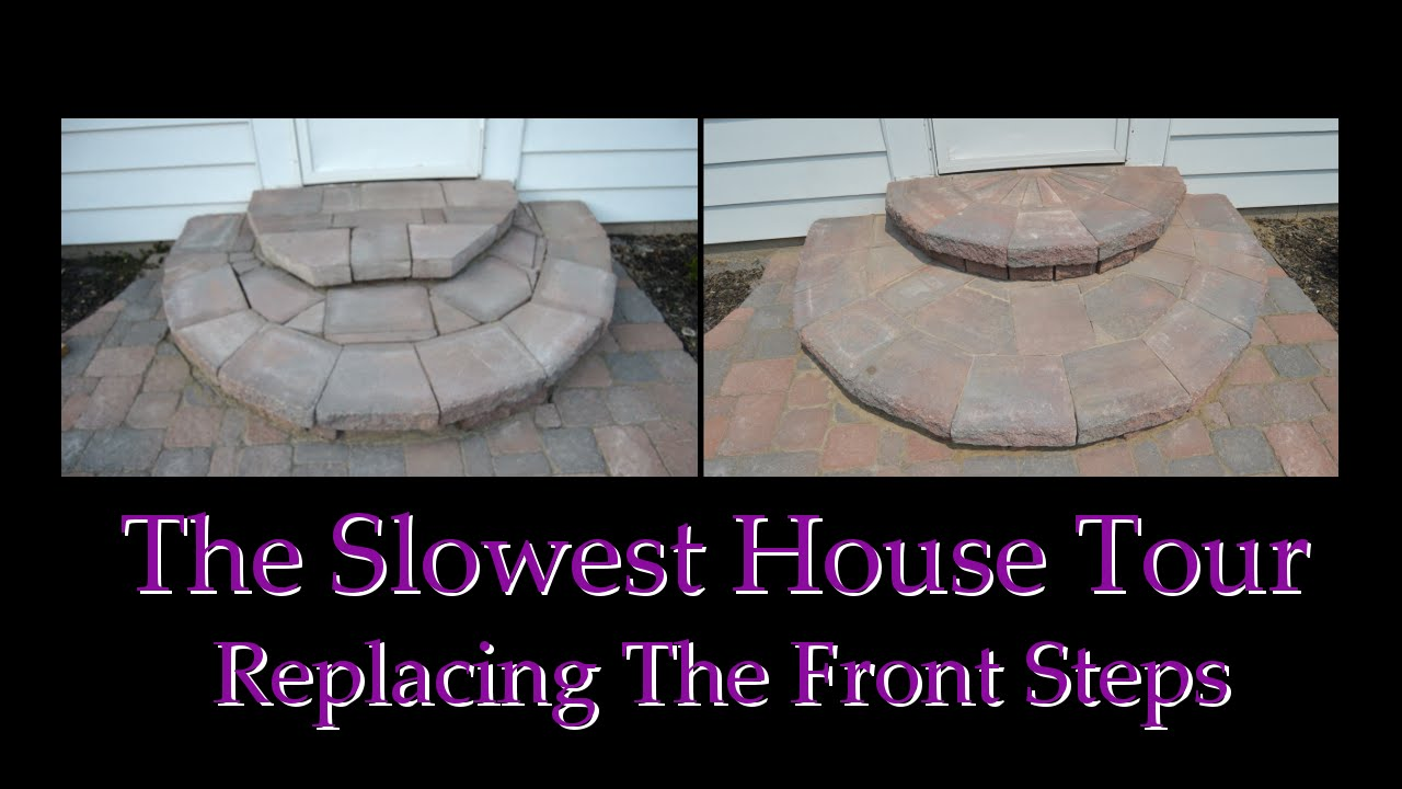 Constructing Entry Steps Using Wall Pavers - YouTube