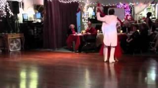 Pamella & Lee Dancing Waltz Kiss from a Rose