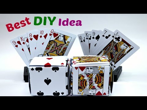 Awesome Crafts Idea With Poker Card Game DIY | Best Out Of Waste