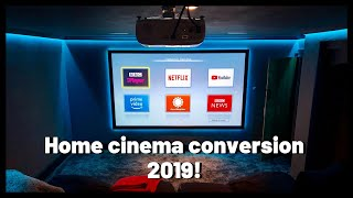 Home cinema conversion 2019 | BEFORE AND AFTER!